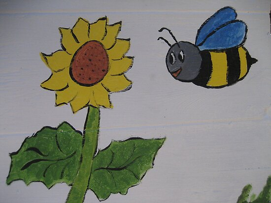 Bumble Bee and Sunflower by Sarita Andres