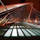 Zubizuri bridge at night by John Gaffen