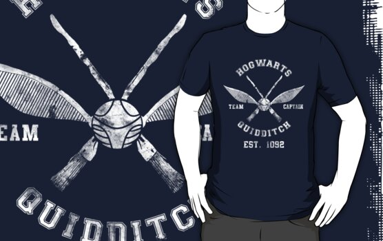 Hogwarts Quidditch Athletic Tee Harry Potter Shirt by spacemonkeydr
