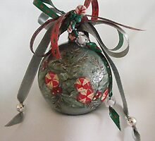 peppermint candy handpainted ornament by cicalese653