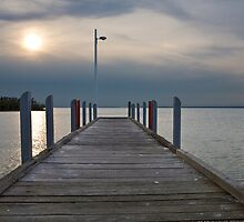 Pier at Lake Victoria, Loch Sport by Danielle Benson