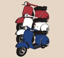 Red White Blue Scooters V by Auslandesign