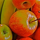 Fresh Fruit - apples and bananas by Cheryl Sterkenburg