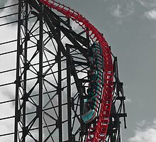 The Big One Blackpool Pleasure Beach by Peter Elliott