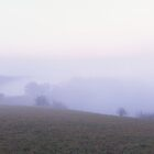 Mist rising over autumn meadows by intensivelight
