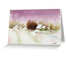 A BEAUTIFUL WINTER - AQUAREL Greeting Card