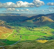The Langdale Valley by VoluntaryRanger