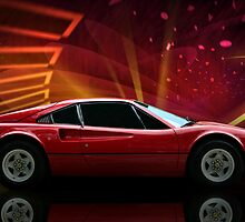 "1979 Ferrari 308 GTB ""Catch Me If You Can"" #2 by TeeMack"