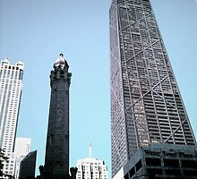 Standing in the Shadows of Giants on Michigan Ave. by cederbee