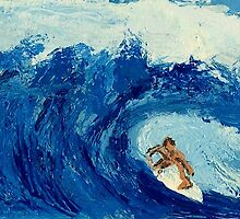 Surfing the everlasting wave - Acrylic Painting by Rick Short