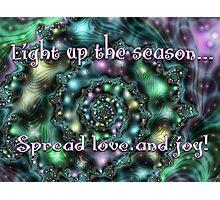 Light Up the Season Card Photographic Print