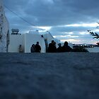 Evening Shadows over Paros by Leah Gay