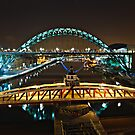 Bridges of the River Tyne, Newcastle. UK by David Lewins LRPS