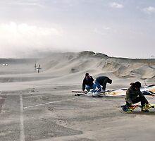 Sand storm on the Brouwersdam by Adri  Padmos