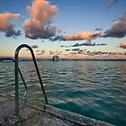 Evening at Merewether Ocean Baths by Mark Snelson