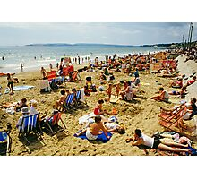 A busy Bournemouth beach (2), England, 1980s Photographic Print