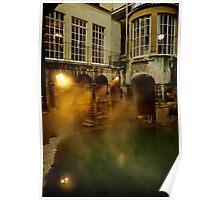 Roman baths in Bath, England. 1980's Poster