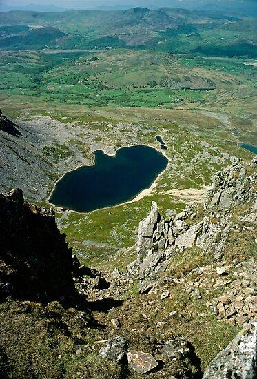 View from Cader Idris looking North, Wales, UK by David A. L. Davies