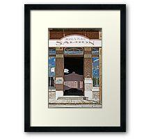 Devils Plate Saloon entry Framed Print