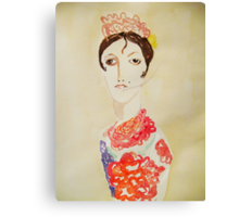 spanish woman with cigarette Canvas Print