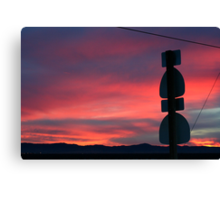 Antelope Valley Sunset, Lancaster California Canvas Print