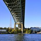 Under I-5 bridge in Seattle by Mike Cressy