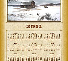 2011 Winter Barn Calendar - Northern Maine by Gary Smith