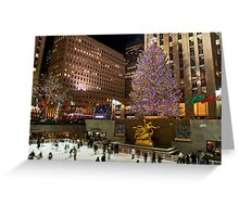 Christmas Tree Rockefeller Center Greeting Card