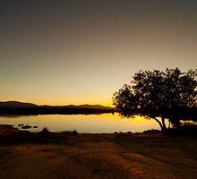 Sunset at Embalse de Ayuela by Gabor Pozsgai