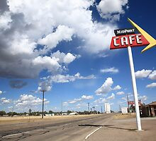 Route 66 Cafe by Frank Romeo