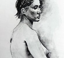 Life study charcoal drawing by Mick Kupresanin