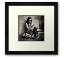 Blowing her own Trumpet Framed Print