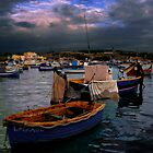 The blue boat by RAY AGIUS