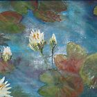 cool blue waterlillies by Gigi Guimbeau