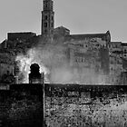 Lazy morning smoke, Matera, Basilicata, Italy by Andrew Jones