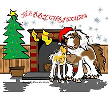 Gypsy Cob Christmas Card 3 by Diana-Lee Saville