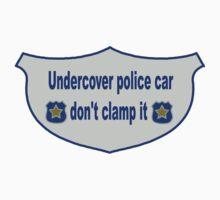 Undercover Police Car Sticker by patjila