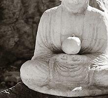 Buddha Holding Pear by Lisa Blair