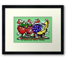 Berry Christmas & Banana New Year Framed Print