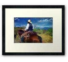 Trail Rider Framed Print