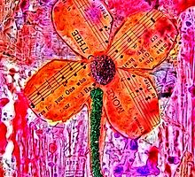 Musical Flower Mixed Media  by angelandspot