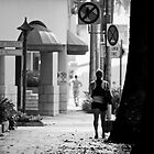 A girl and a man - Alone in Singapore by deolandicho