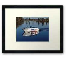Captain America and First Mate Framed Print