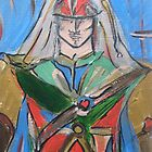 Heart Warrior in Colour by Anthea  Slade