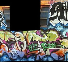 mr lench (thrid of four) by graffiti