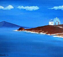 Chapel in Pyrgi, Paros Island by Kostas Koutsoukanidis