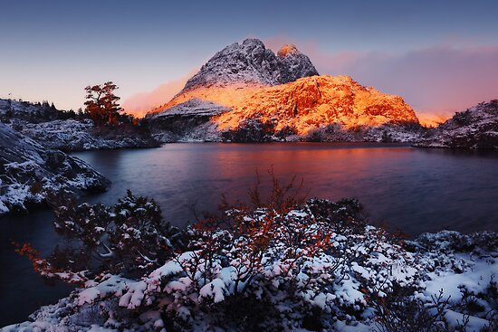 Little Horn in Autumn Snow Twisted Lakes by Mark Shean