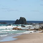 Low Tide at Narooma Surf Beach by aussiebushstick