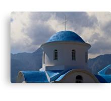 GREEK ROADSIDE CHAPEL..! Canvas Print