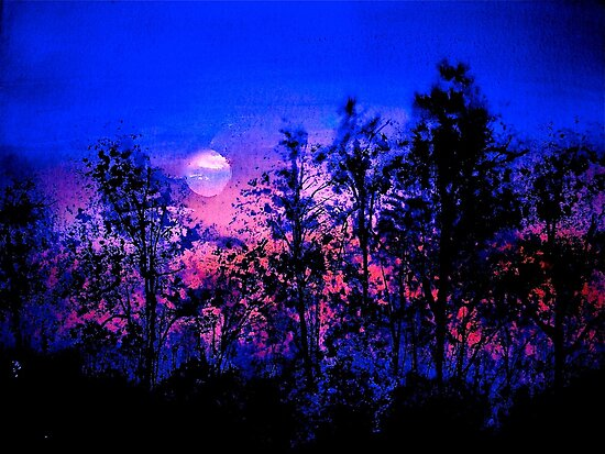 Landscape....Another Blue Night by © Janis Zroback